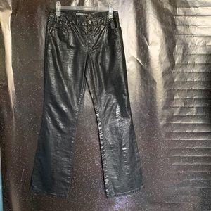 Express- Black Faux Snake Skin Pants size 4